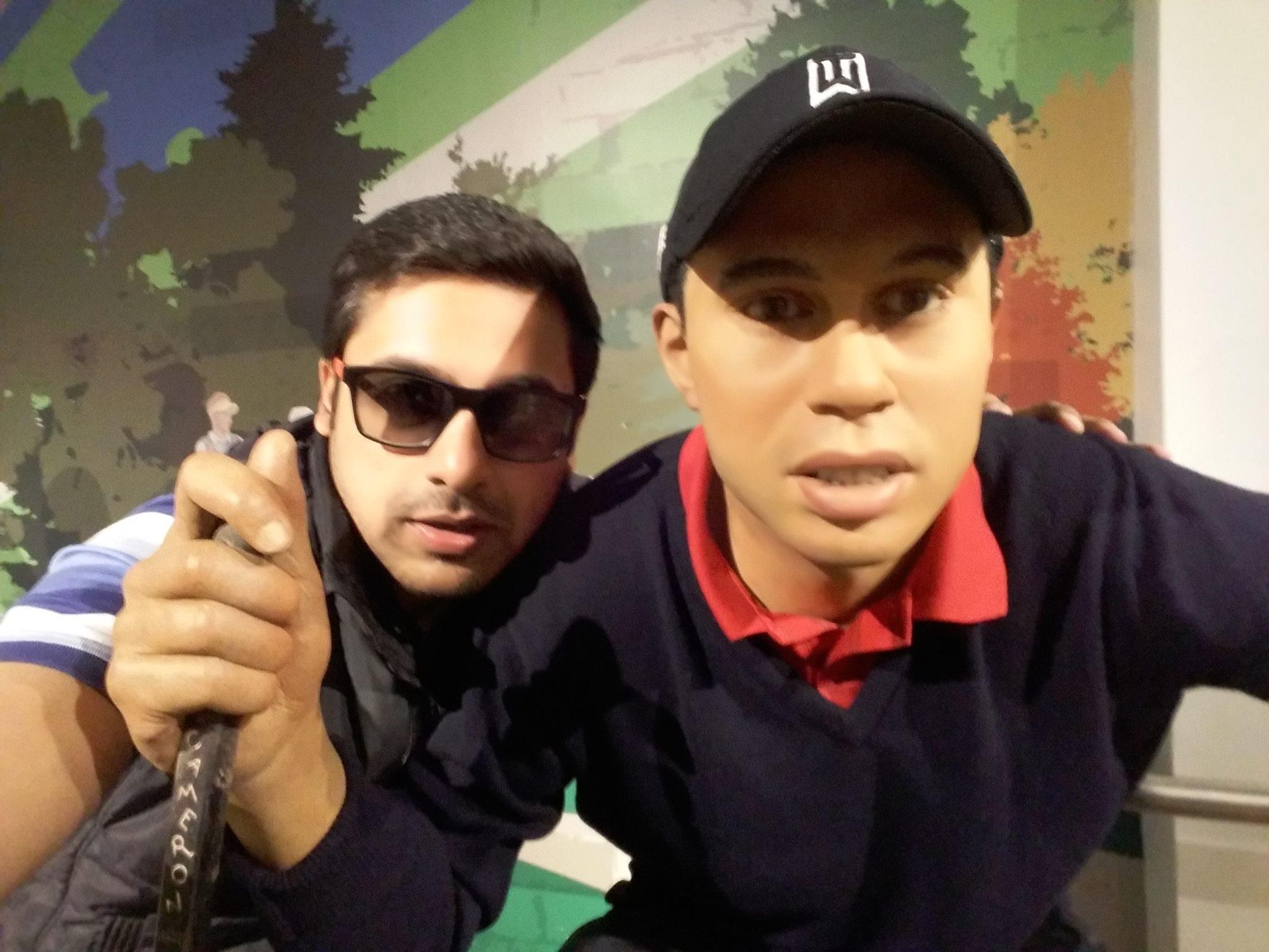 Shagun Jain with Tiger
